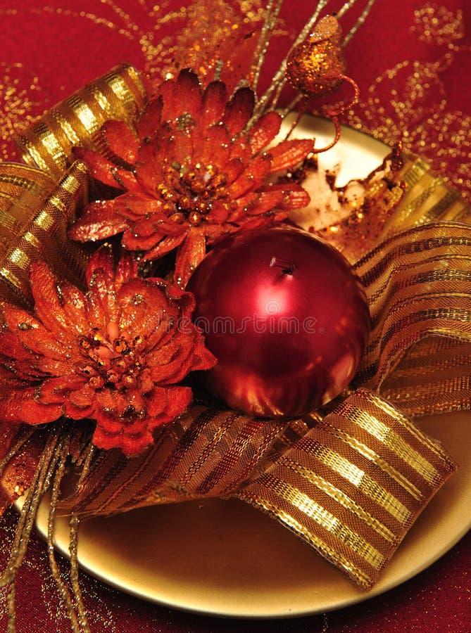 Decoraciones 2 de la vela de la Navidad foto de archivo libre de regalías