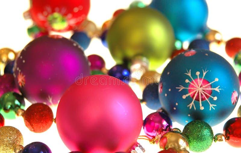 Decoraciones coloridas de la Navidad imagenes de archivo