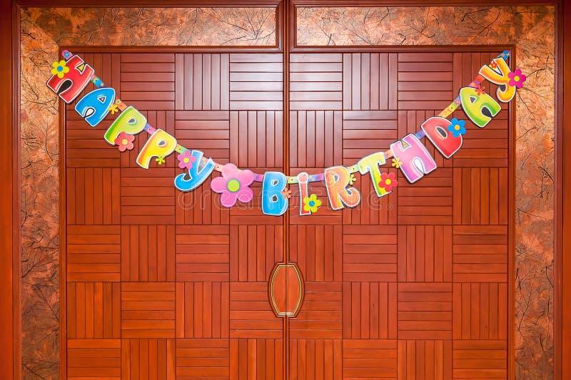 Decoraciones coloridas del cumpleaños imagen de archivo