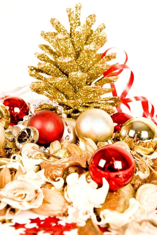Decoraciones de Christmass imágenes de archivo libres de regalías
