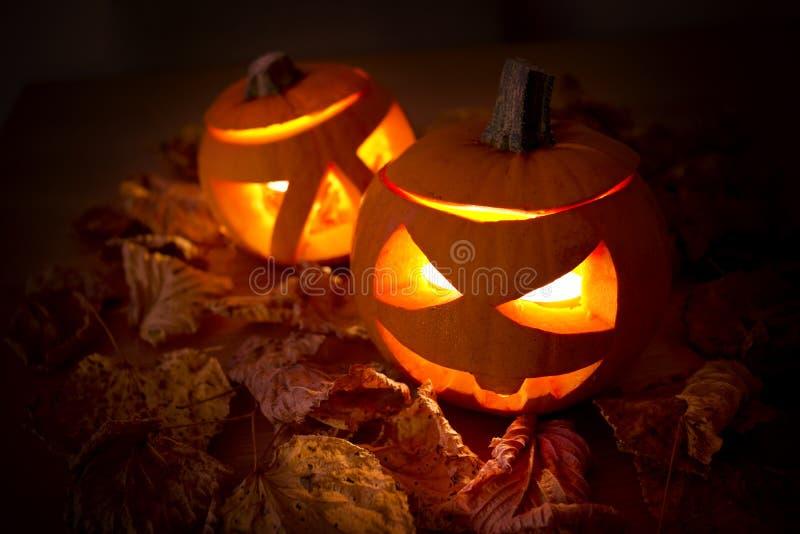 Decoraciones de Halloween fotos de archivo
