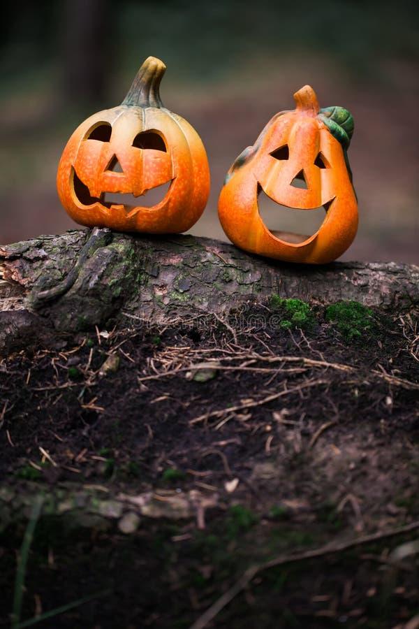Decoraciones de Halloween fotografía de archivo