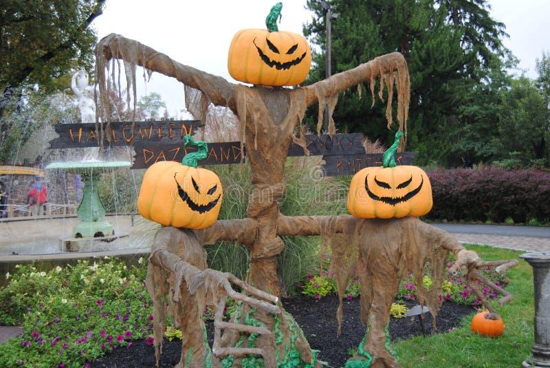 Decoraciones de Halloween imagenes de archivo