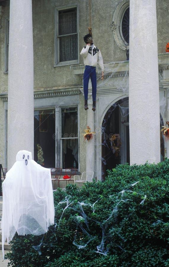 Decoraciones de Halloween, Macon, Georgia imagen de archivo libre de regalías