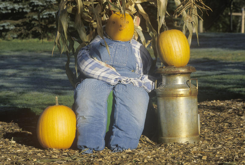 Decoraciones de Halloween, Nueva Inglaterra foto de archivo