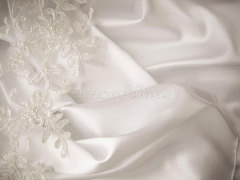 Decoraciones de la boda, cordón, seda, satén fotografía de archivo libre de regalías