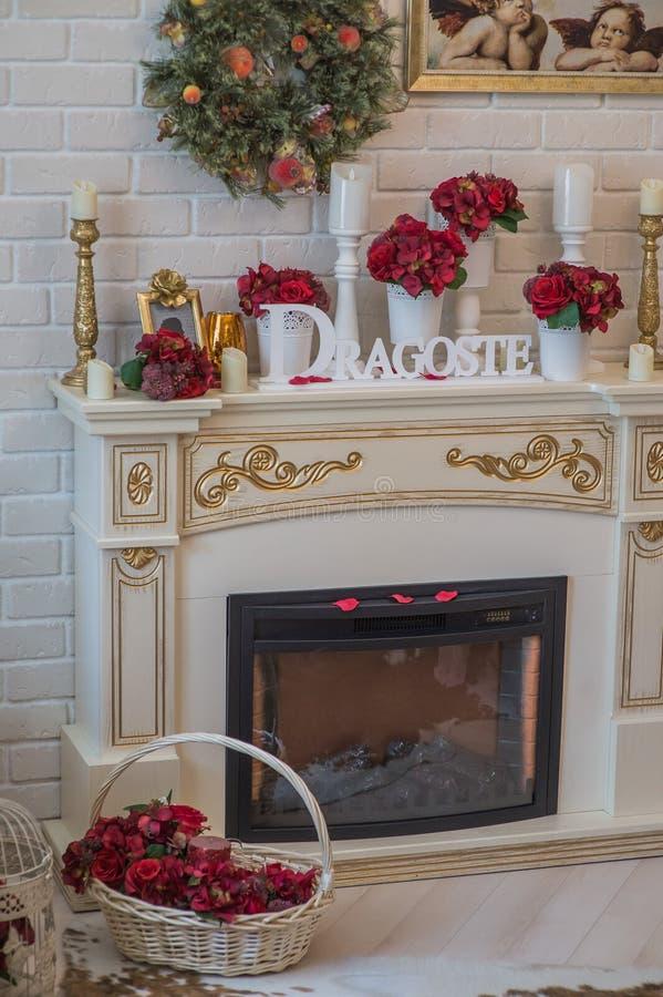 Decoraciones de la boda para el hogar fotos de archivo libres de regalías