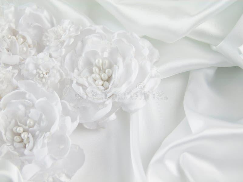 Decoraciones de la boda, seda, cordón, flores de seda imagen de archivo
