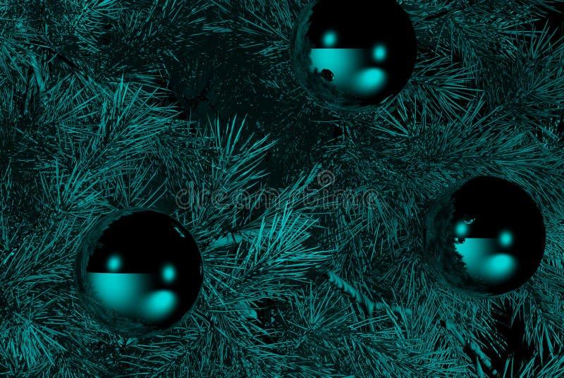 Decoraciones de la Navidad libre illustration