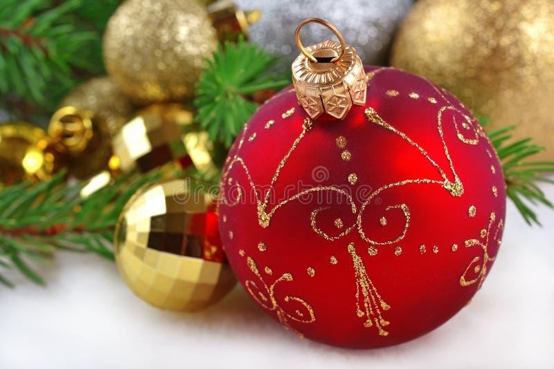Decoraciones de la Navidad foto de archivo libre de regalías