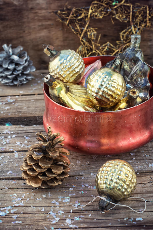 Decoraciones de la Navidad imagenes de archivo