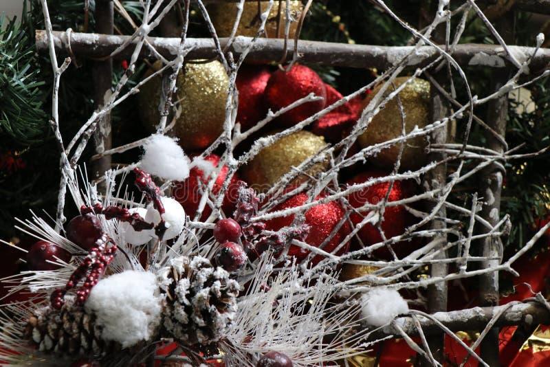Decoraciones de la Navidad, atmósfera de la Navidad foto de archivo