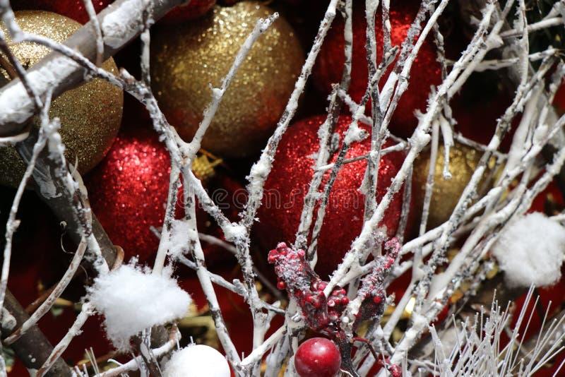 Decoraciones de la Navidad, atmósfera de la Navidad foto de archivo libre de regalías