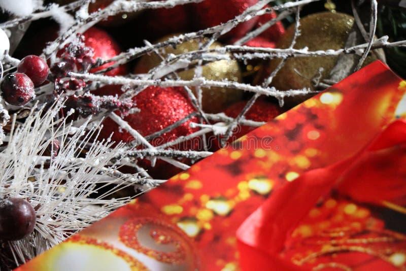 Decoraciones de la Navidad, atmósfera de la Navidad imagen de archivo