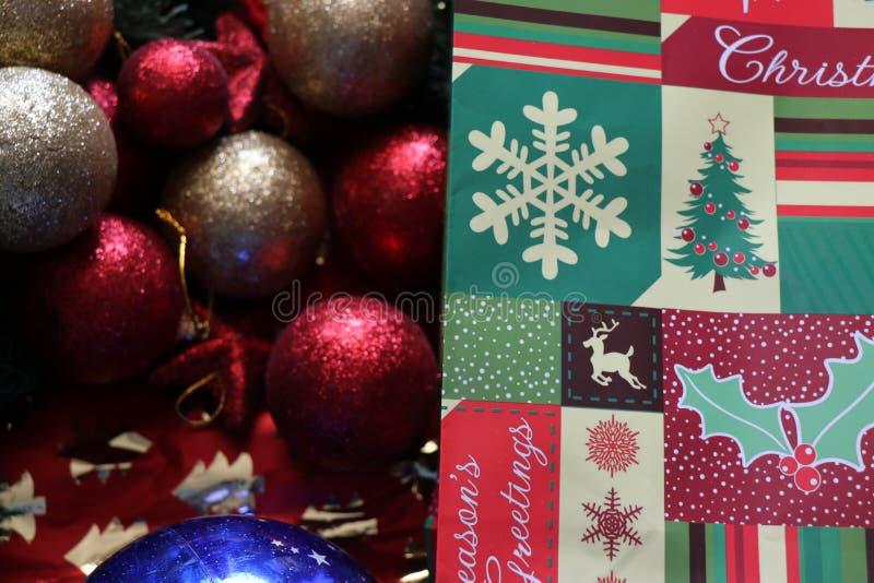 Decoraciones de la Navidad, atmósfera de la Navidad fotos de archivo