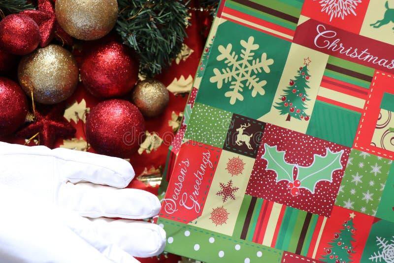 Decoraciones de la Navidad, atmósfera de la Navidad imágenes de archivo libres de regalías