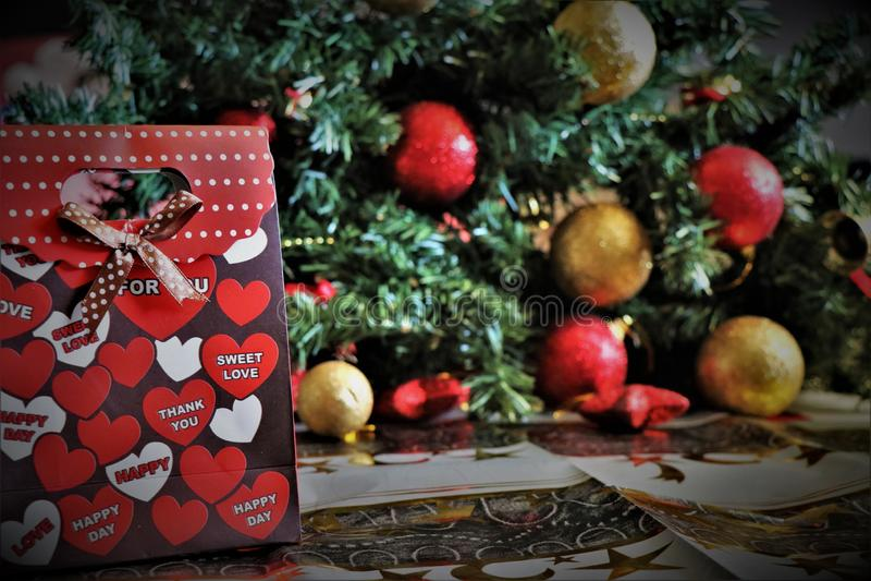 Decoraciones de la Navidad, atmósfera de la Navidad imagenes de archivo