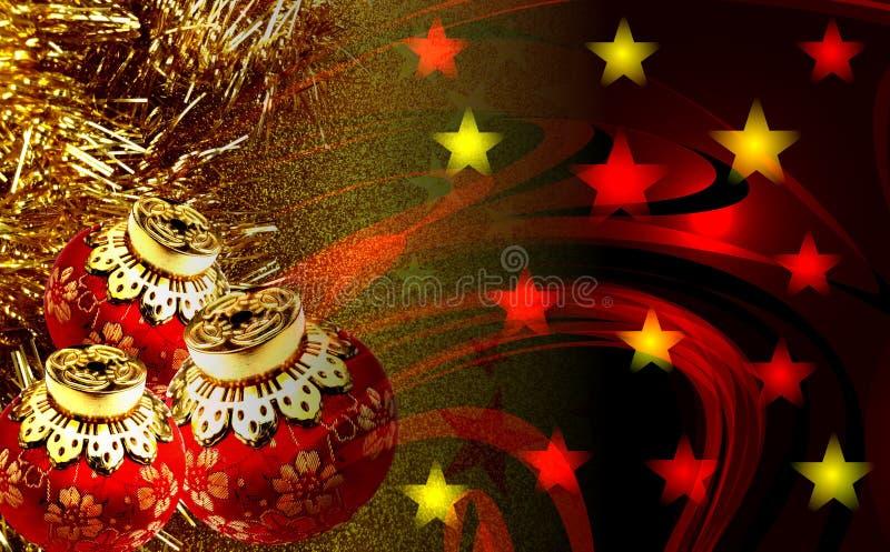 Decoraciones de la Navidad con el fondo texturizado imagenes de archivo