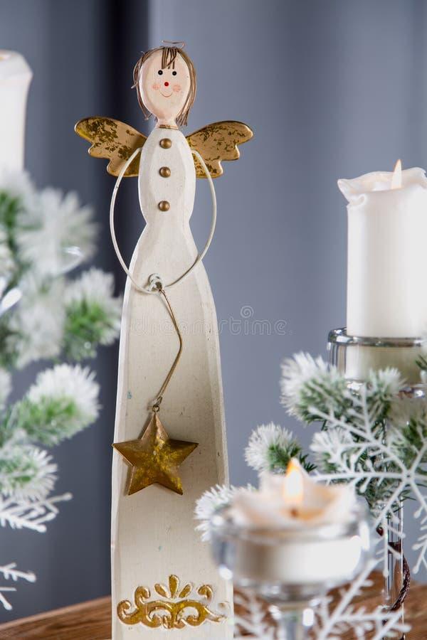 Decoraciones de la Navidad, concepto relacionado del hogar del día de fiesta foto de archivo libre de regalías