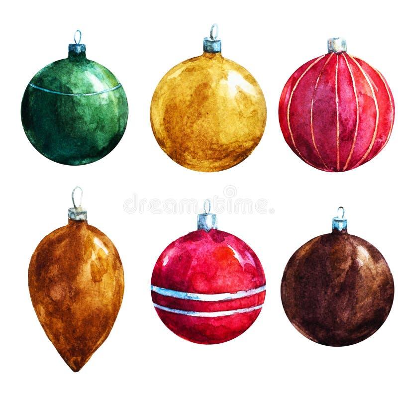 Decoraciones de la Navidad de la trama ilustración del vector