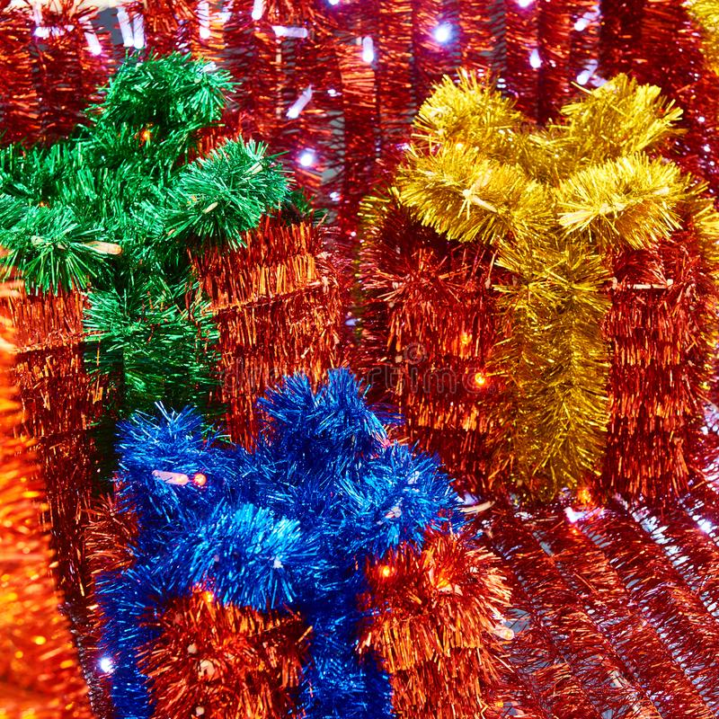 Decoraciones de la Navidad de la malla fotografía de archivo libre de regalías