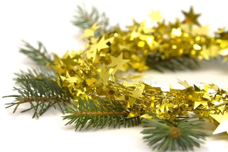 Download Decoraciones De Oro De La Navidad Imagen de archivo - Imagen de ornamento, decorativo: 7277647