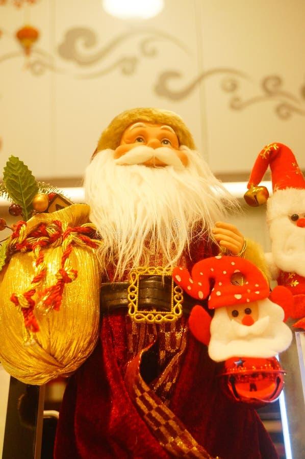 Decoraciones de Papá Noel y de la Navidad imagen de archivo libre de regalías