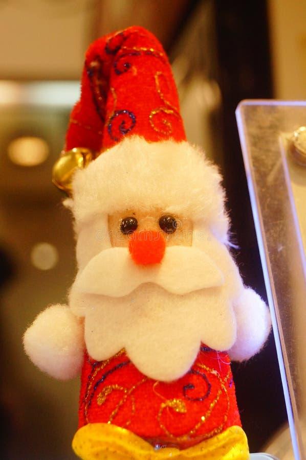 Decoraciones de Papá Noel y de la Navidad imágenes de archivo libres de regalías