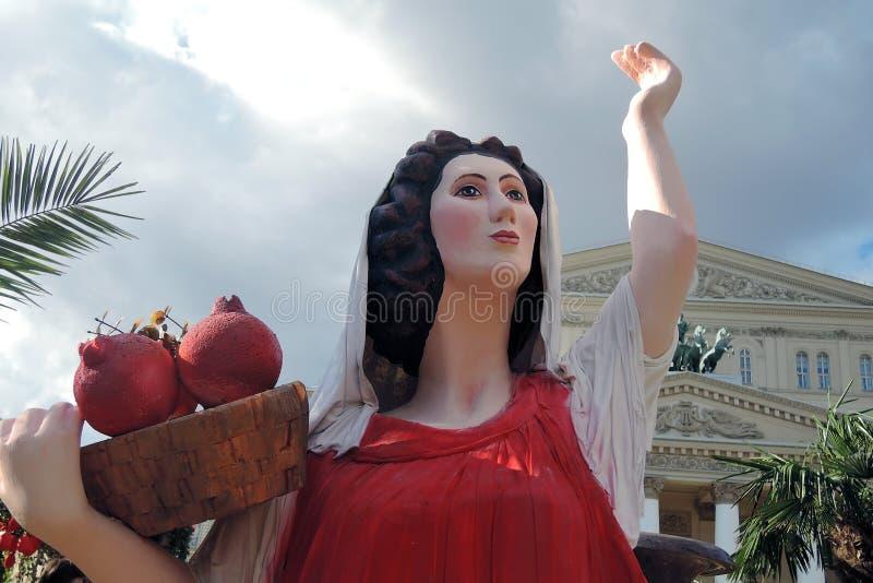 Decoraciones de Pascua en Moscú fotografía de archivo