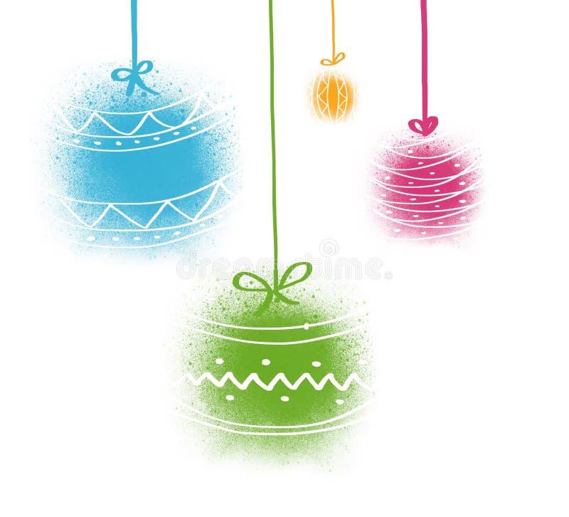 Decoraciones del árbol de navidad ilustración del vector