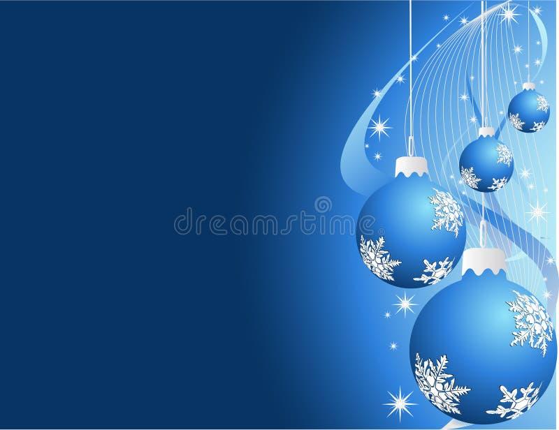 Decoraciones del Año Nuevo ilustración del vector