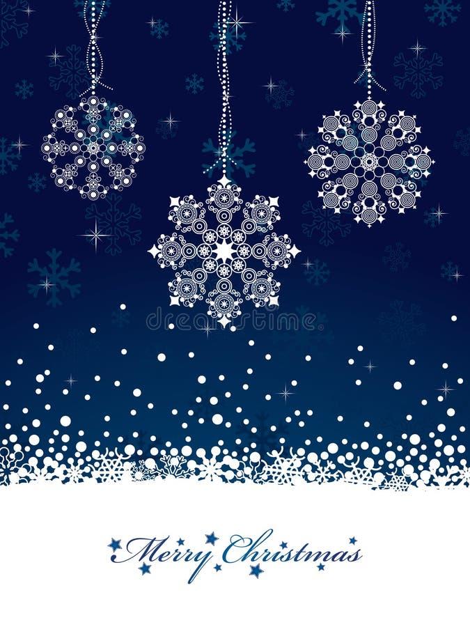 Decoraciones del copo de nieve libre illustration