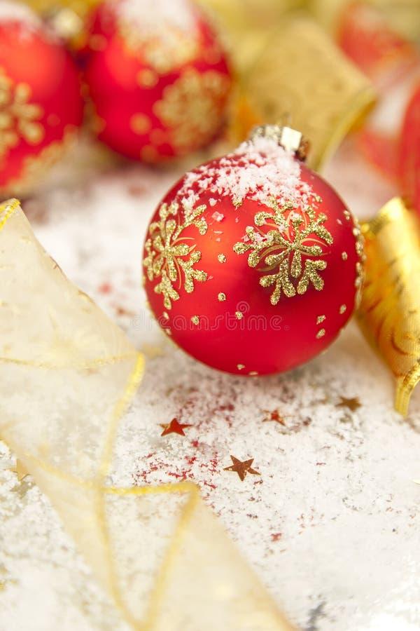 Decoraciones del fondo/del día de fiesta de la Navidad foto de archivo libre de regalías