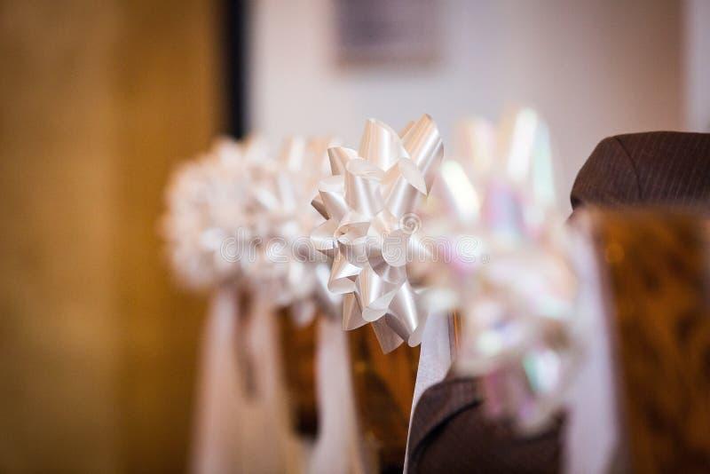 Decoraciones del partido de la ceremonia de boda imagen de archivo libre de regalías