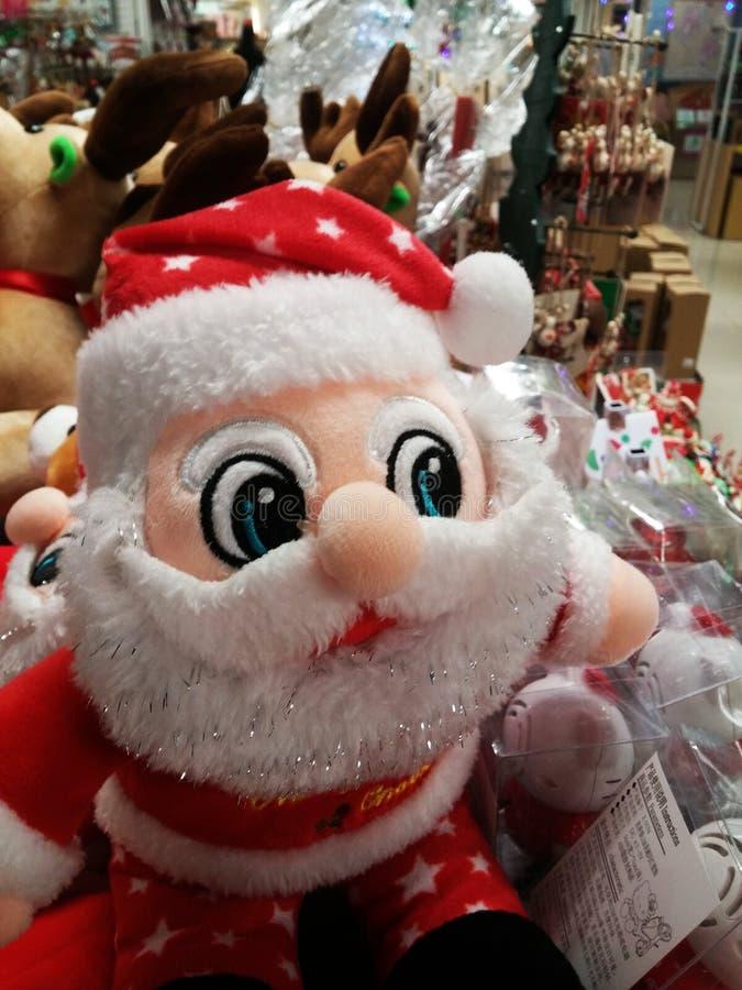Decoraciones del regalo de Santa Claus y de la Navidad imagen de archivo libre de regalías