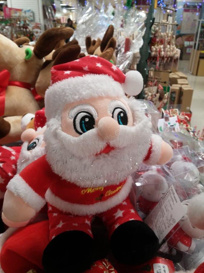 Decoraciones del regalo de Santa Claus y de la Navidad fotografía de archivo