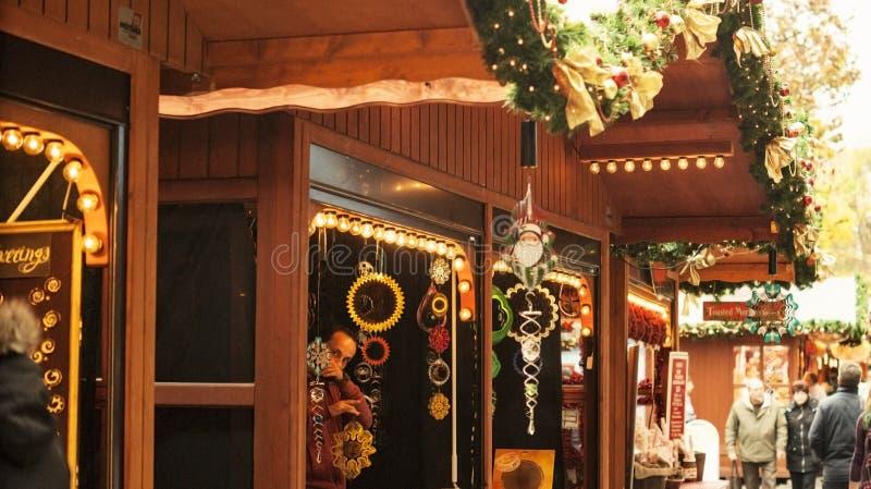 Decoraciones en la Navidad fotos de archivo libres de regalías