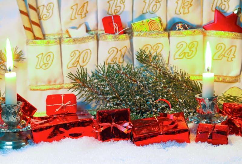 Decoraciones para el advenimiento imagen de archivo libre de regalías