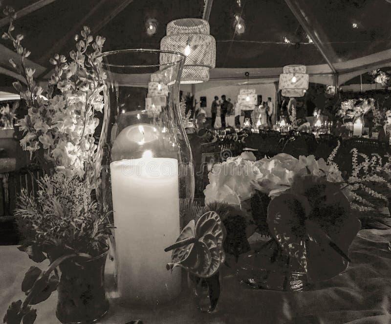 Decoraciones tropicales para casarse en Kauai, Hawaii, los E.E.U.U. fotografía de archivo