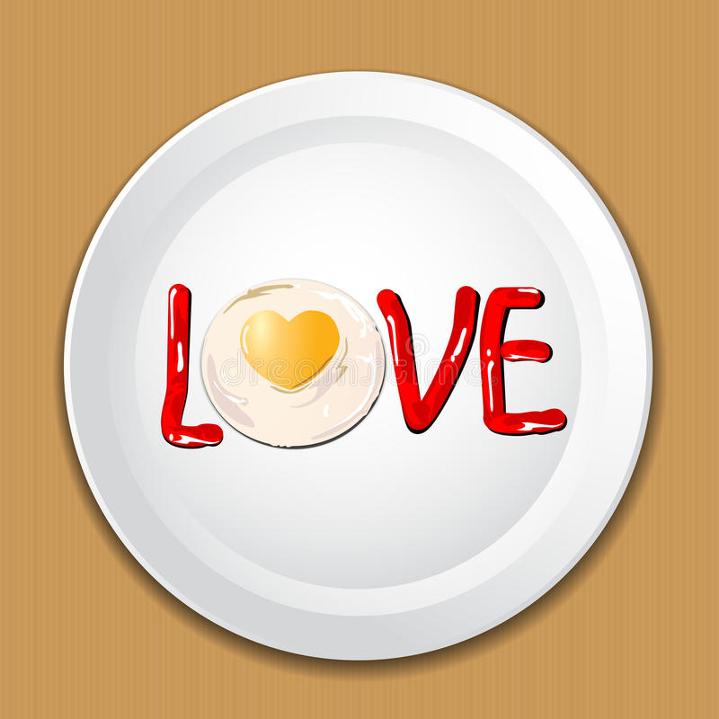 Download Decorate Food With LOVE On A Plate Stock Vector - Illustration of white lettering & Decorate Food With LOVE On A Plate Stock Vector - Illustration of ...