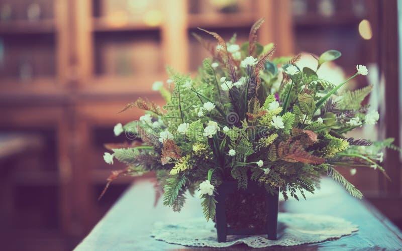 White Flower Blossom In Pot stock images