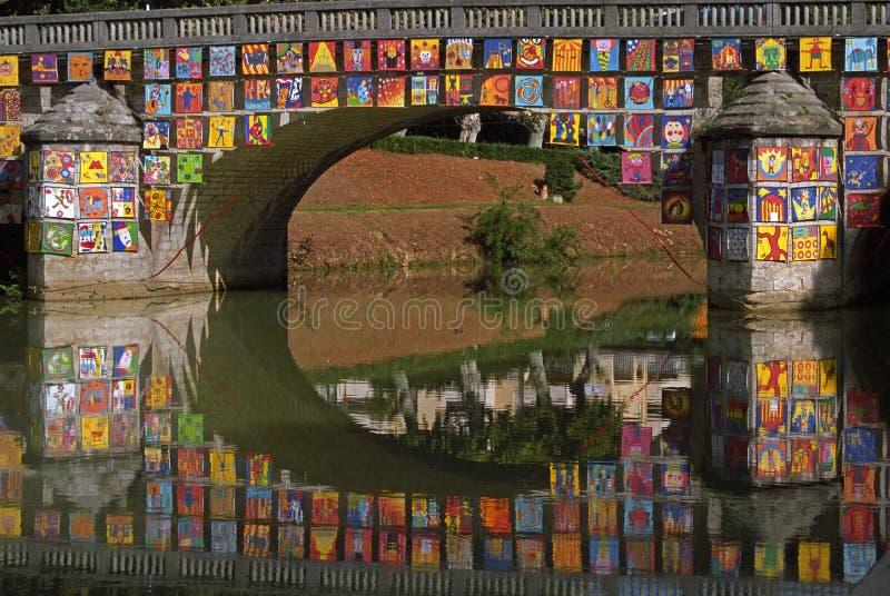 Decorated Bridge stock image