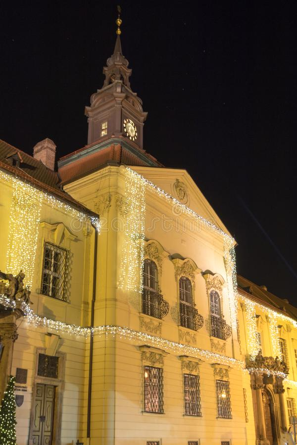 The decorated building on Dominican square, Brno, Czech Rebublic. Europe stock photography