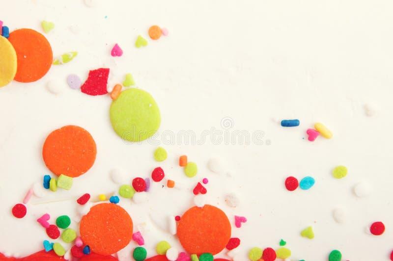 Decorated Cake Icing Background royalty free stock photo