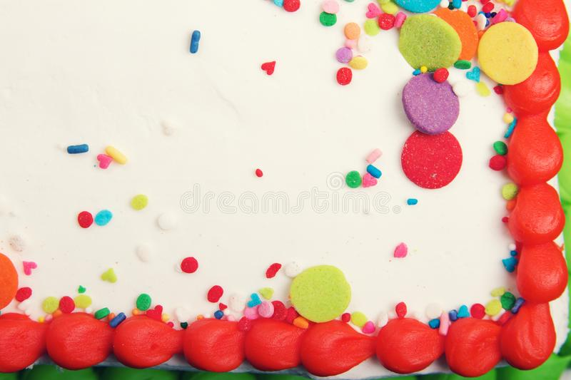 Decorated Cake Icing Background royalty free stock images
