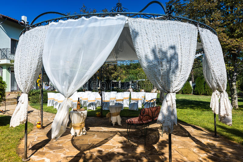 Download Decorated Chairs On A Outdoor Wedding Stock Image - Image: 34471571