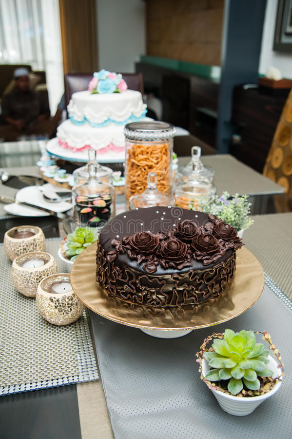 Download Decorated Chocolate Cake stock image. Image of food, still - 26526527