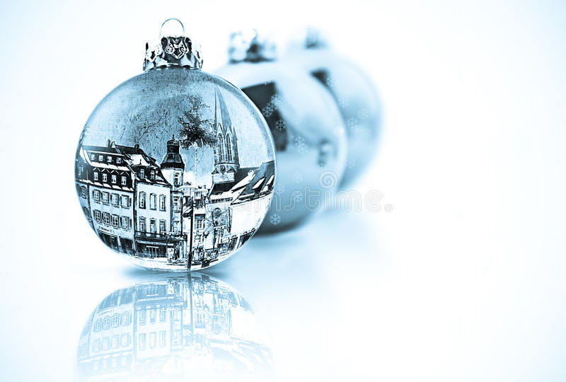 Download Decorated Christmas Baubles Stock Photo - Image: 10672718