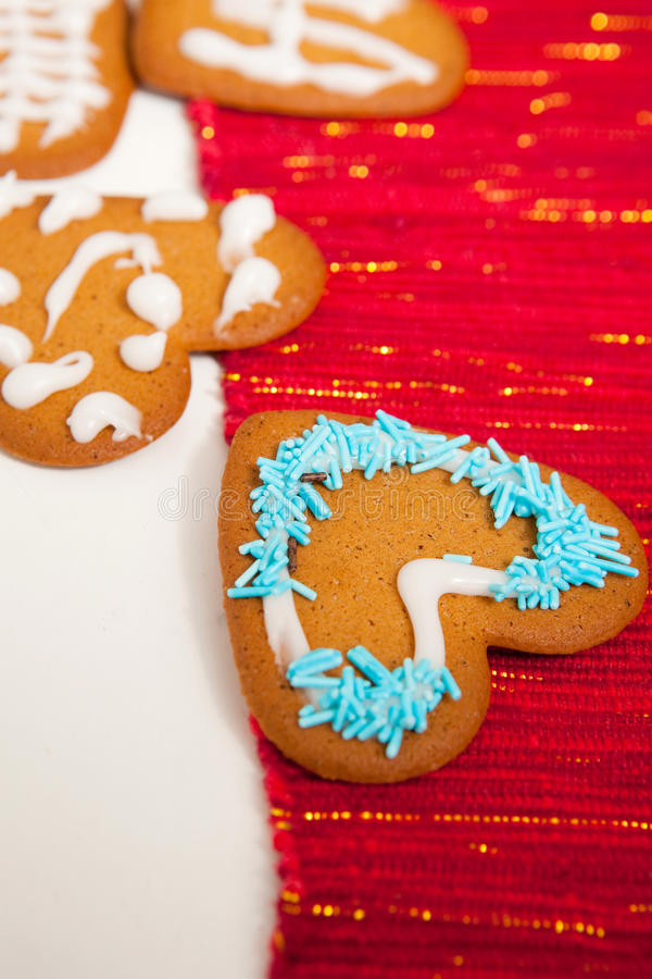 Decorated Christmas Gingerbread Royalty Free Stock Images