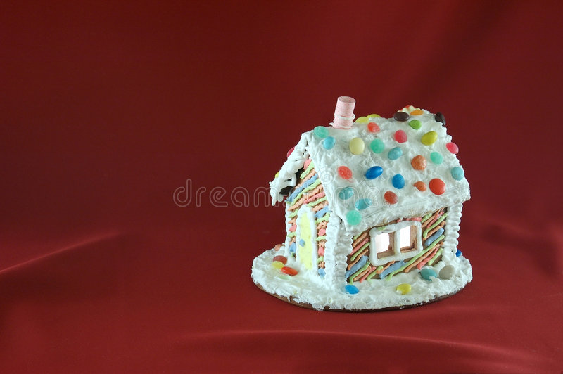 Decorated Christmas gingerbread house stock photo